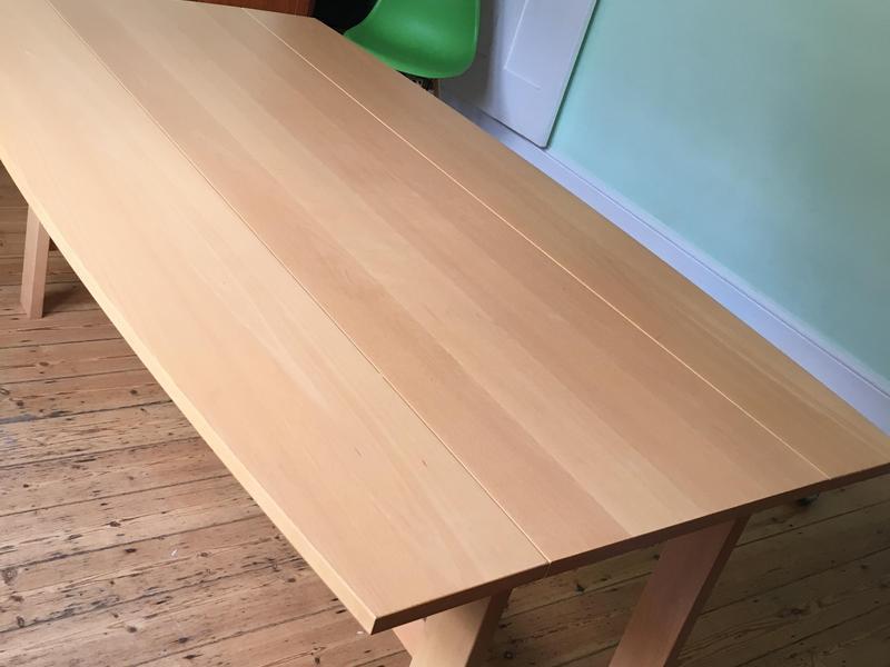 Habitat dining room table in beech in haywards heath for Black friday dining room table deals