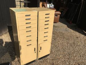 Set of Dentists Draws with small Cupboards - Draws have Glass Base in Brighton