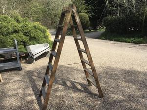 Vintage Wooden A Frame Step Ladders 2 Available  in Brighton