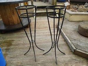Steel Plant Pot Holders. In Sheffield
