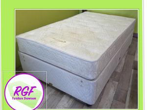 4ft Double Divan Bed Base With 2 Drawers & Mattress - Local Delivery £19 in Lancing
