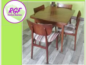 Drawer Leaf Dining Table Set Of
