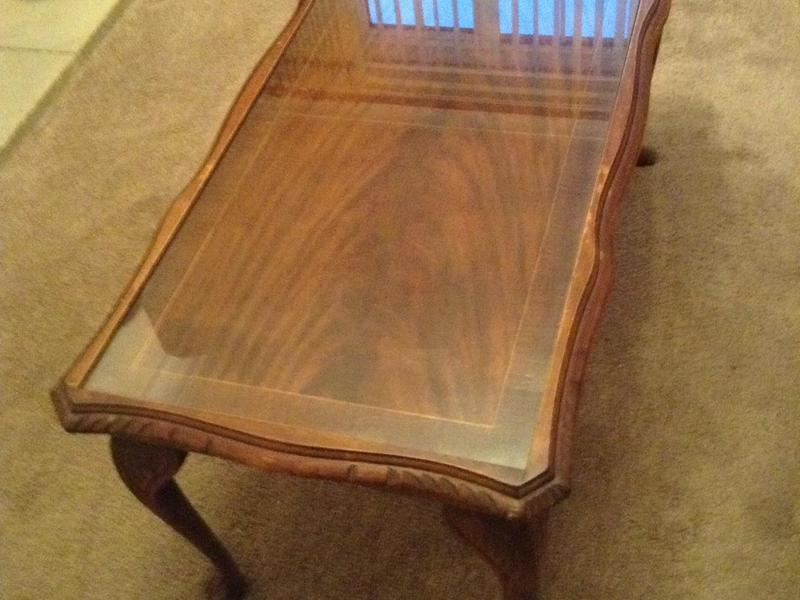 Mahogony coffee table with removable glass top in brighton for Coffee table with removable glass top