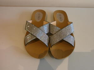 afd79e4a4 Women s silver summer sandals shoes flip flops from M   Co