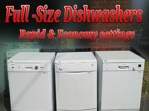 Dishwasher  Full-size Beko White Blomberg  White Bosch  in St. Leonards-On-Sea