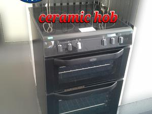 Belling Electric Cooker 60cm Double Oven Black  in St. Leonards-On-Sea