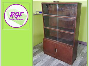 20% OFF SELECTED ITEMS!! Barristers Oak Bookcase / Liibrary Display Cabinet - Local Delivery £19 in Lancing