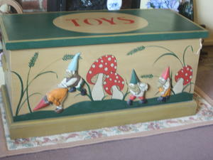 ONE-OF-A-KIND PINE TOY BOX, used for sale  Bognor Regis