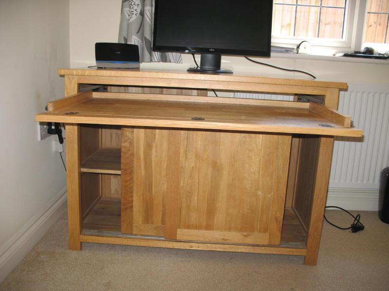 hideaway home office. ROHAN SOLID OAK HIDEAWAY HOME OFFICE COMPUTER DESK In Worthing Hideaway Home Office