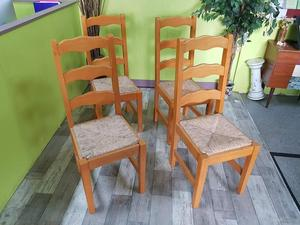 4 Beech Dining Chairs in Lancing
