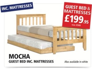 HALF PRICE GUEST BED INCLUDING 2 SPRUNG MATTRESSES in Hove