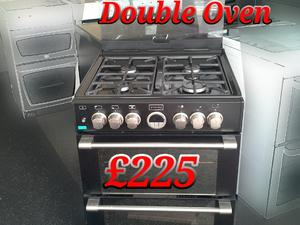 Stoves Dual Fuel Cooker 60cm Black  in St. Leonards-On-Sea