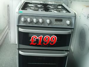 Gas Cooker Silver 60cm Cannon  in St. Leonards-On-Sea