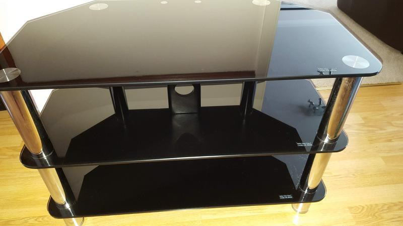 Black Smoke Glass Tv Stand In Burgess Hill Friday Ad