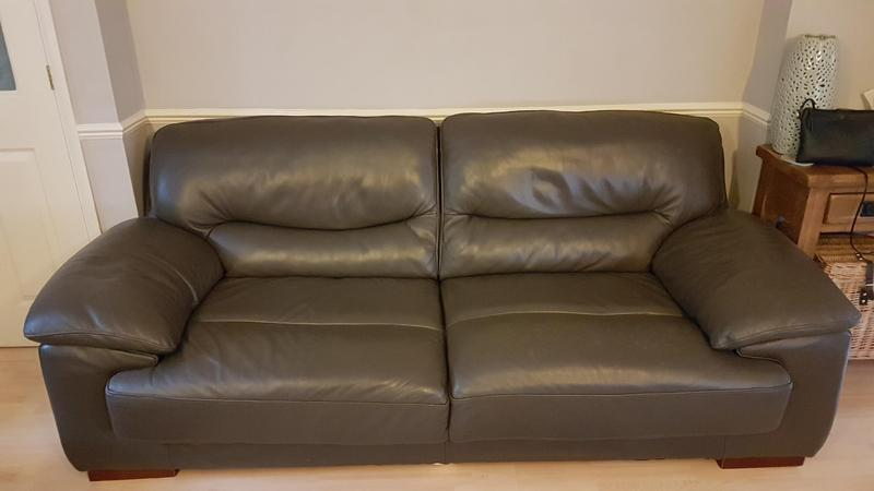 Wondrous Real Italian Leather 2 3 Seater Sofa In Huntingdon Sold Ocoug Best Dining Table And Chair Ideas Images Ocougorg