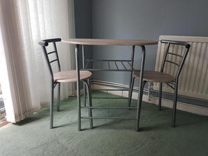 Breakfast Bar, Dining Table And 2 Chairs Set In Burgess Hill