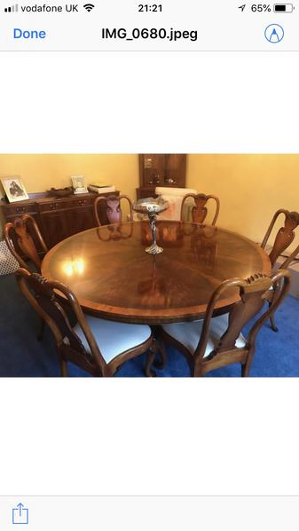 Beautiful Yew Dining Table And 6 Chairs In Sheffield