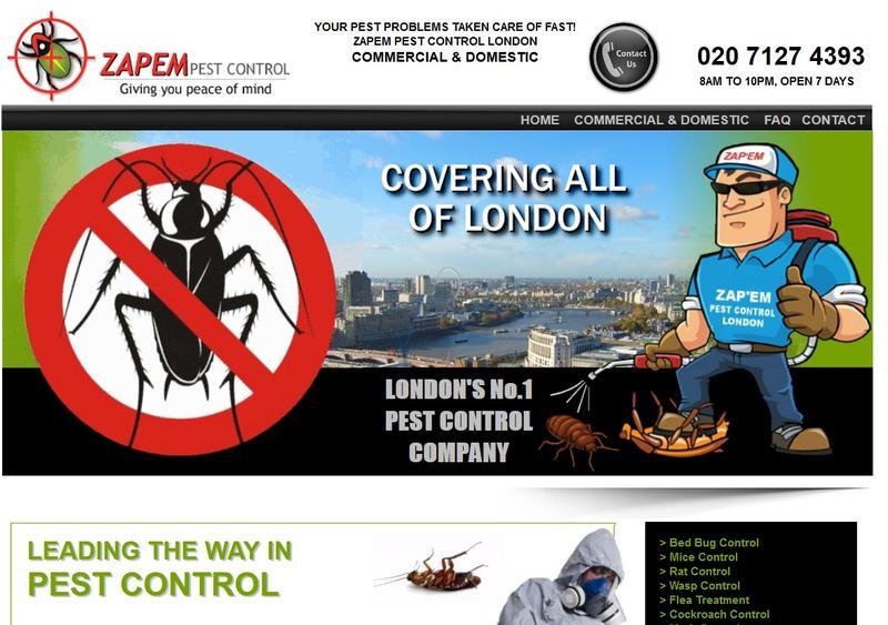 Zapem Pest Control London Friday Ad