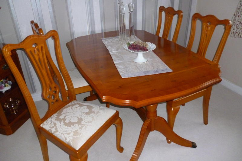 Yew Dining Room Table Chairs Cabinet In Eastbourne