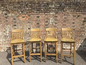 Oak Bar Chairs   Good Quality, Heavy Duty. In Haywards Heath