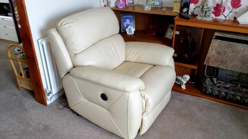 DFS leather electric reclining armchair in Brighton ...
