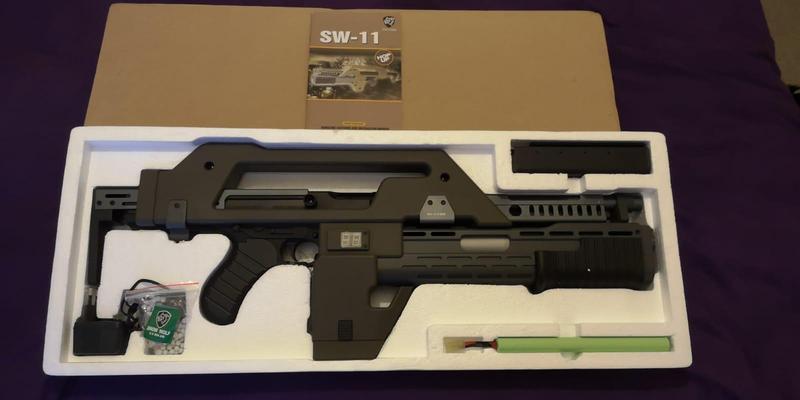 automatic electric airsoft gun aeg replica of model