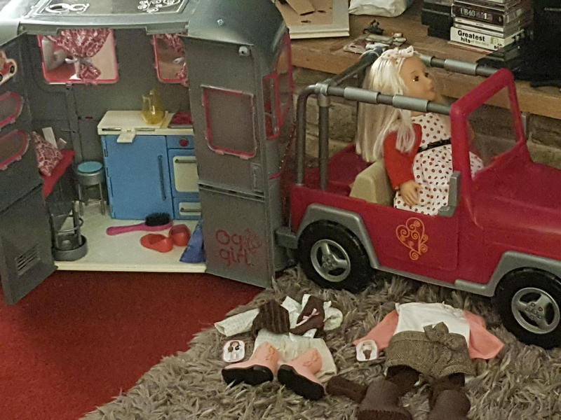 Our Generation Camper Van Jeep Doll And Accessories As