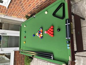 Pool Table With Folding Legs X In Caterham Sold FridayAd - 3 1 2 x 7 pool table