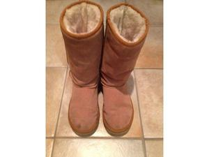 Used, Ladies Chestnut Suede Ugg Boots - UK 6 for sale  Dorking