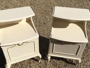 Pair of White Bedside Tables in Brighton