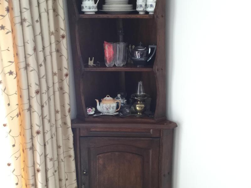Dark Wood Corner Cabinet In Littlehampton