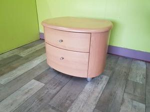 Beech Effect Side Table With Drawers in Lancing