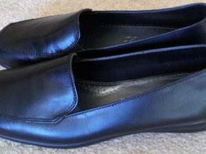 107147cc6fd Footglove Leather Wedge Heel Loafers