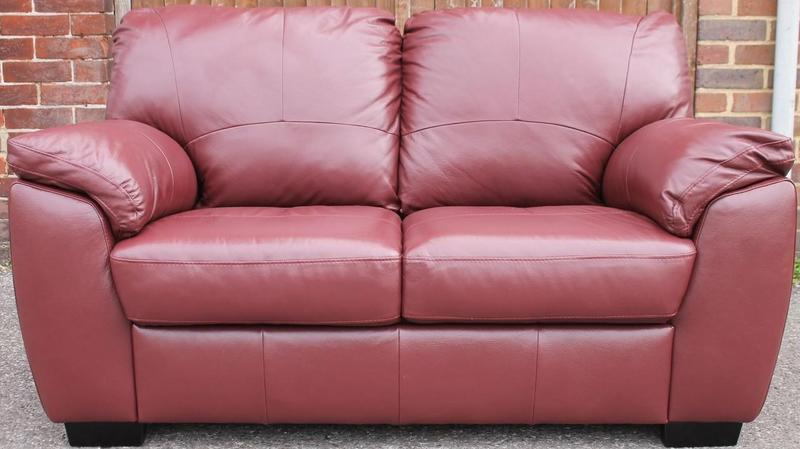 Swell Argos Milano Burgandy Leather Sofa In Haywards Heath Pdpeps Interior Chair Design Pdpepsorg