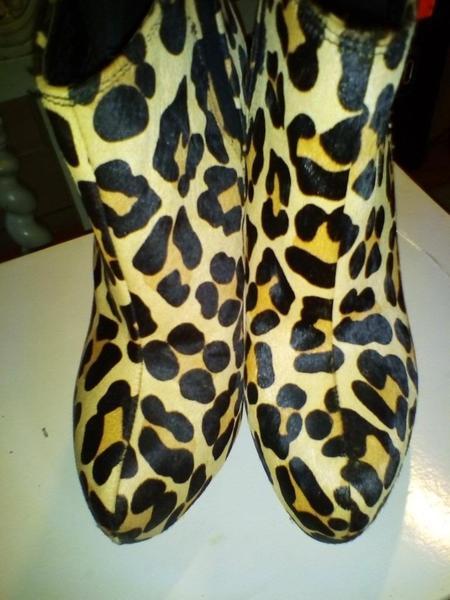 best sell top design best Kurt Geiger Carvela Pony skin leopard animal print leather ankle ...
