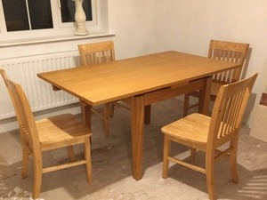 Oak Dining Kitchen Table And 4 Chairs In Chesterfield