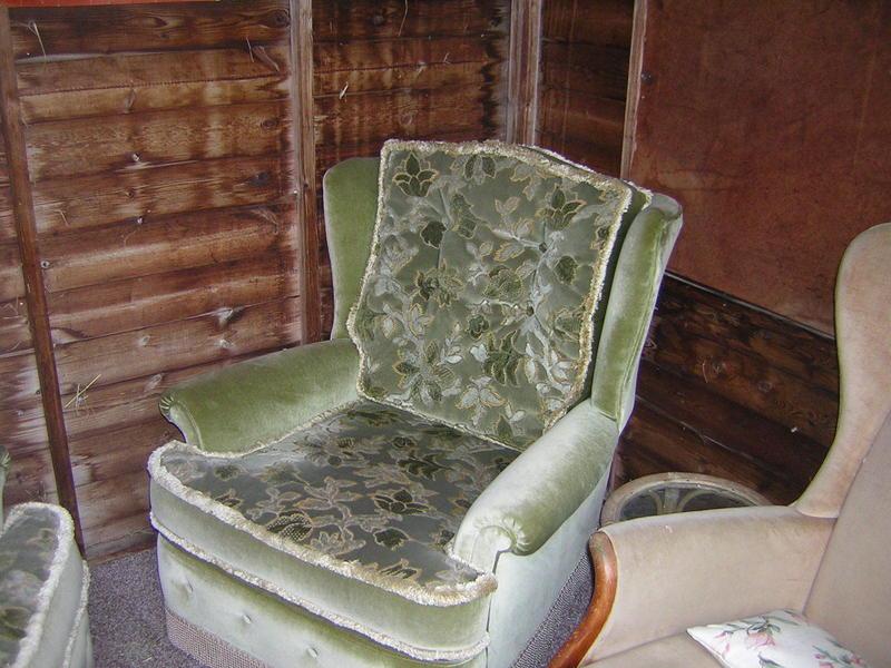 Velour Armchairs In Excellent Condition In Hailsham