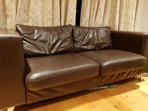 Bargain Brown Leather Sofa In Ashford Expired Friday Ad