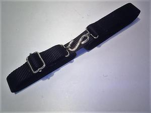 2 adults elastic belts with snake buckle and adjuster  colour red and black