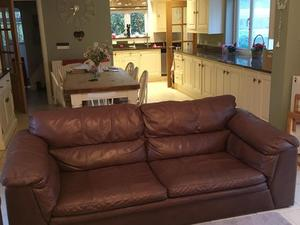 Brown leather sofas/settee in Birmingham - Expired   Friday-Ad