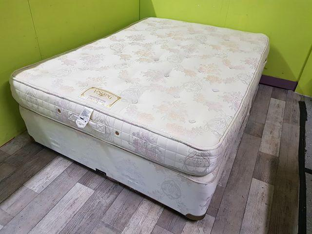 4ft 6 Double Divan Bed Base Vi Spring Mattress In Lancing Friday Ad