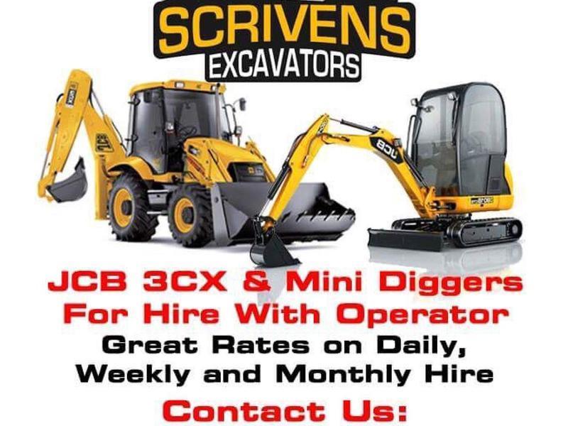 Scrivens Excavators  Mini, medium and large diggers with
