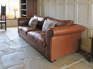 Laura Ashley leather sofa in Loughborough - Expired | Friday-Ad