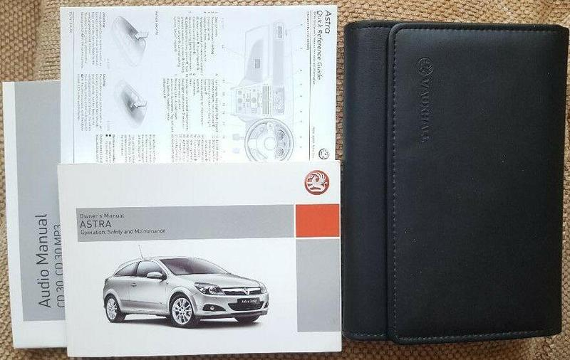Vauxhall WALLET Owners Manual Handbook Corsa Astra Zafira Insignia Meriva ADAM