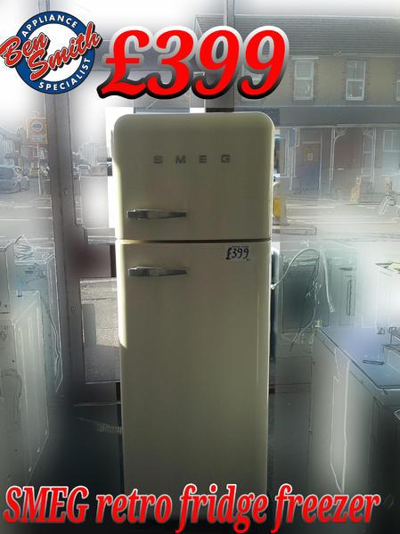 Fridge Freezer Retro Smeg Cream In St Leonards On Sea Friday Ad