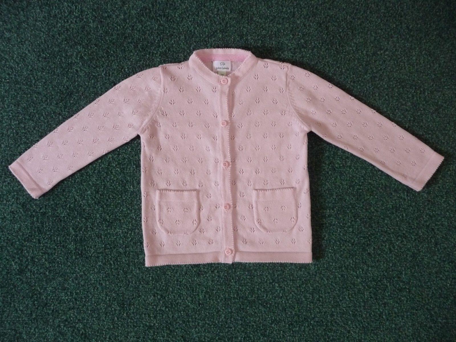 c4730d4ad47d John Lewis Baby Pink Cardigan 3-6 Months Spring Summer Baby Girl 7.4 ...