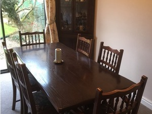 Cool Dark Wood Dining Table With 6 Chairs In Maidenhead Expired Onthecornerstone Fun Painted Chair Ideas Images Onthecornerstoneorg