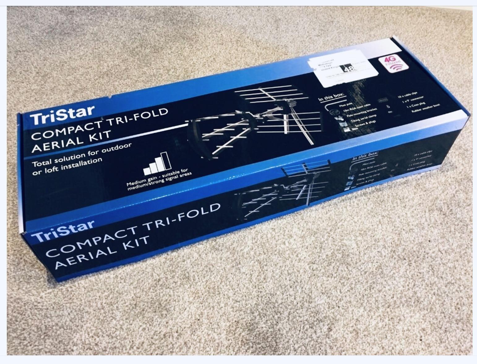 TriStar Digital TV Aerial Compact Tri-Fold Kit 4G Filter