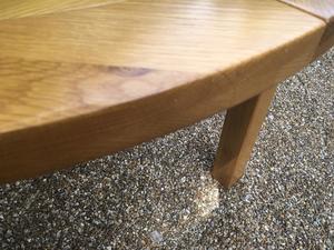 Solid Oak Drawleaf Table From Furniture Village