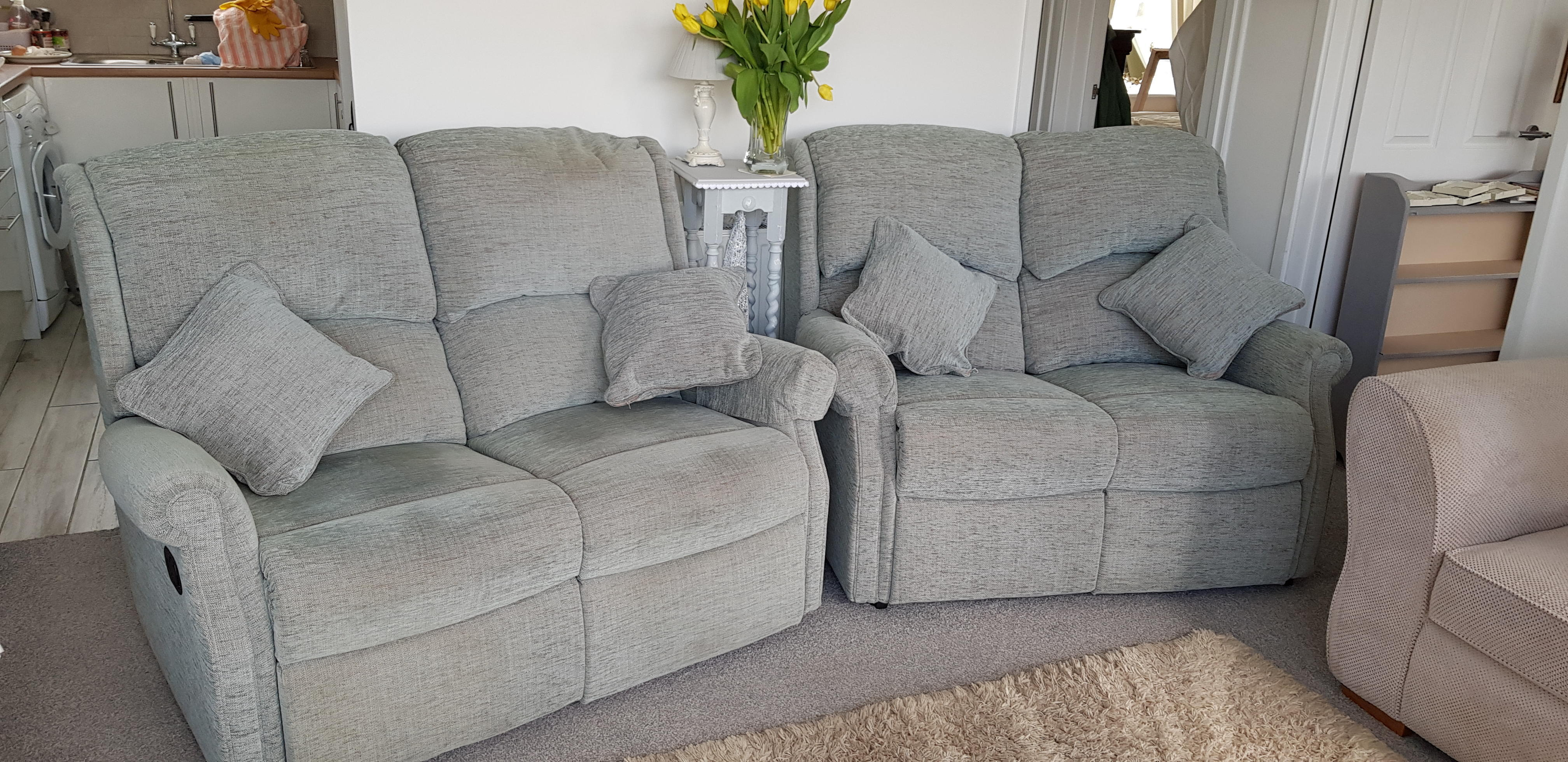 Swell Hsl 2 Two Seater Sofas One Being A Recliner In Eastbourne Pabps2019 Chair Design Images Pabps2019Com